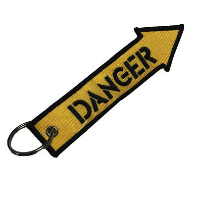 Llavero DANGER REMOVE BEFORE FLIGHT Avión A380 777 Boeing Airbus Maleta Llaves