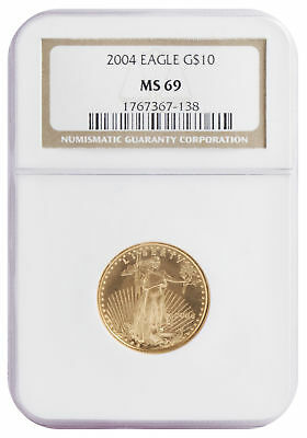 2004 - $10 1/4oz Gold American Eagle MS69 NGC Brown Label
