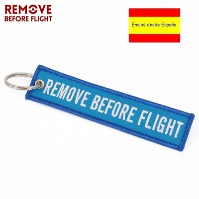 Llavero REMOVE BEFORE FLIGHT Avión A380 777 Airbus Maletas Mochilas Llaves Azul