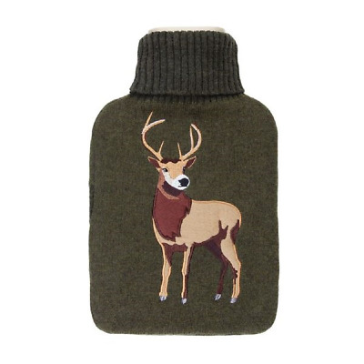 Aroma Home Stag Knitted Hot Water Bottle