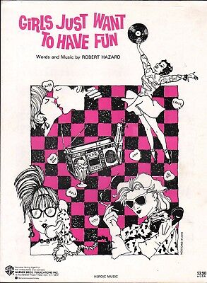 Girls Just Want to Have Fun 1983 CYNDI LAUPER Hit Song Sheet Music!
