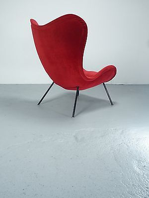 Madame Sessel / wingback lounge chair Correcta, design Fritz Neth 1950ies