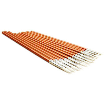 12pcs Fine Wooden Paint Oil Painting Artists Brushes, Bead light red U7G1