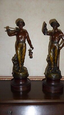 2X Spelter Figure Miners By Ricoh