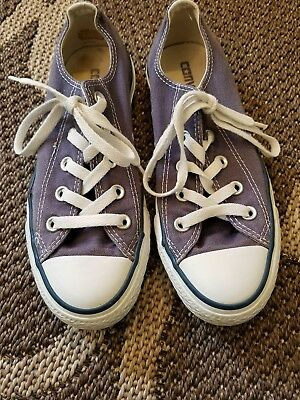 Converse All Star Sneakers Men's Size 4, Women's Size 6, Blue Canvas, Low Top