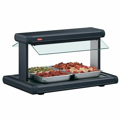 "Hatco GR2BW-30 30"" Glo-Ray Black Designer Buffet Warmer with Black Insets - 1..."
