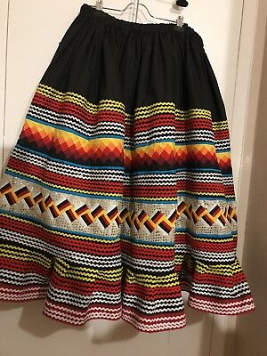 Seminole Patchwork  Skirt 6 Yards Of Patchwork Tribal Colors! New!!!! ❤️❤️❤️