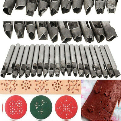 Leather Shape Punch Stamp Hollow Hole for Wallet Bag Belt Gasket 20/26 Styles