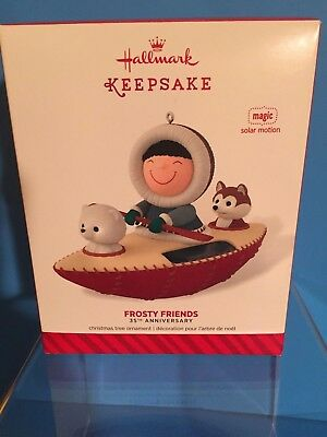 2014 Hallmark Frosty Friends Complement, 35th Anniversary Ornament, Solar Motion