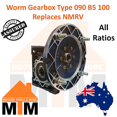 Worm Gearbox Industrial Type 090 B5 100 Replaces NMRV