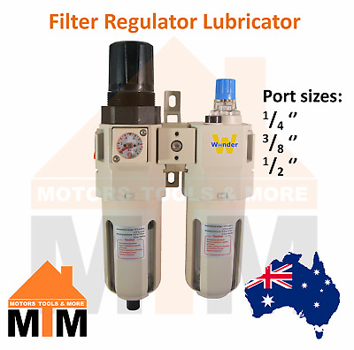 FRL - Filter Regulator Lubricator for Pneumatic systems Air Compressor Airline