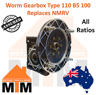Worm Gearbox Industrial Type 110 B5 100 Replaces NMRV