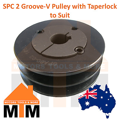 SPC C-section 2 Groove V Belt Pulley w/ taper lock to suit