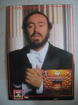 Vintage Luciano Pavarotti Opera Advertising Teatro alla Scala Cardboard Sign