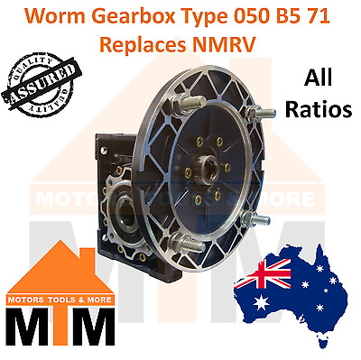 Worm Gearbox Industrial Type 050 B5 71 Replaces NMRV