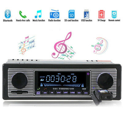 Auto Radio MP3 Player Bluetooth Stereo AUX USB SD FM In Dash Receiver LCD 12V