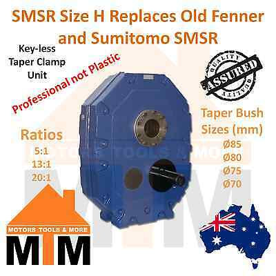 Shaft Mounted Speed Reducer Size H Replace Fenner Sumitoto 5:1 13:1 20:1 Ratio
