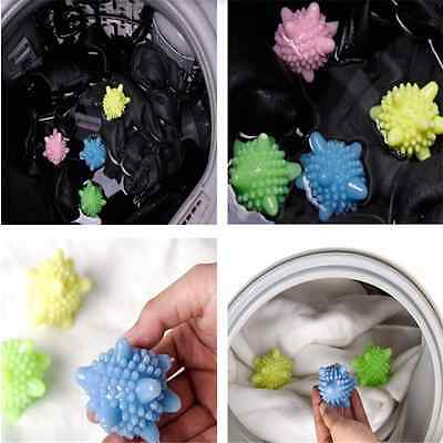 4 X Reusable Tumble Laundry Washing Dryer Balls Clothes Scrubber Soften Fabric