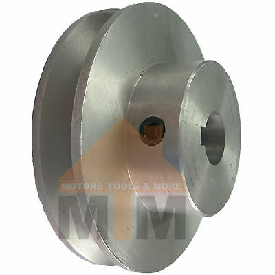 100mm Dia. SPA A Section Pulley Aluminium 28mm Bore