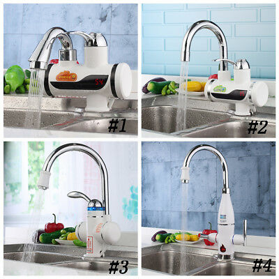 Tankless Electric Instant Hot Water Heater Faucet Bathroom Kitchen Mixer Tap