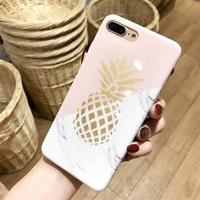 For iPhone 6s 7 Plus Pineapple Ultra Slim Rubber Soft TPU Silicone Case Cover