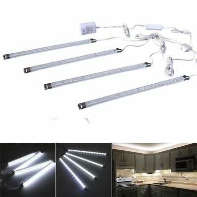 LED Under Cabinet Counter Closet Kitchen Wall Desk Lighting Strip 4PCS Lamps Bar