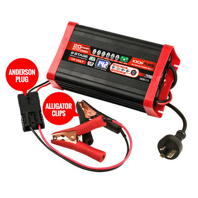 KICKASS 12V / 20AMP 8 Stage Automatic Smart Battery Charger For AGM, GEL, MARINE