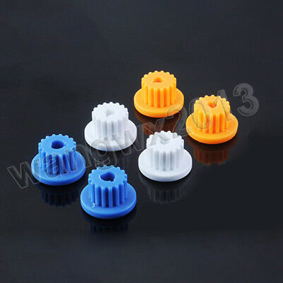 5pcs MXL-16 16T 16 Teeth 3/4/5mm Bore Hole Motor Plastic Gear Wheel for DIY Toy