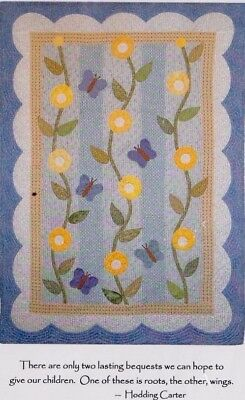 Roots & Wings - pieced & applique baby quilt PATTERN - Patterns by Annie