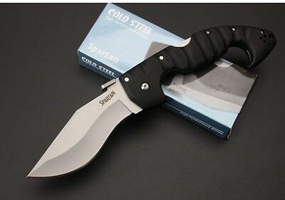New Cold Steel Spartan Folder Pocket Knife Plain Edge Camping Hunting