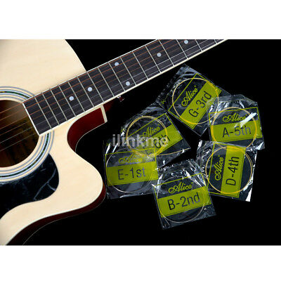 High quality 6Pcs Metal Bronze Steel Strings For Acoustic Guitar 150XL/.010in