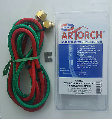 Replacement hoses for jewellers Smith Little Torch, ARTorch. AUS/NZ connections