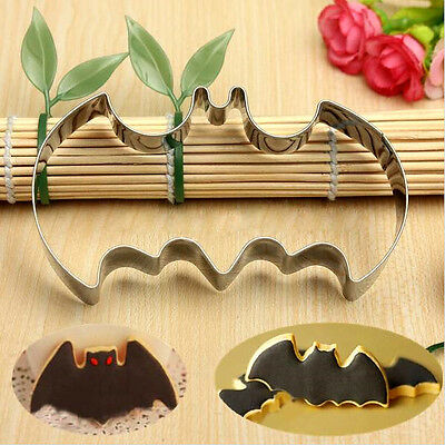 Halloween Batman Stainless Steel Biscuit Cookie Cutter Cake Decor Baking Mold