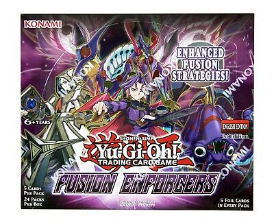 YuGiOh Fusion Enforcers Sealed Booster Box 24 Packs