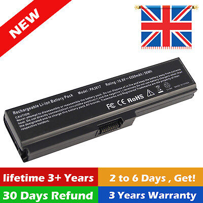 6 Cell Laptop Battery Toshiba Satellite C660 C660D C665 PABAS227 PA3817U-1BRS