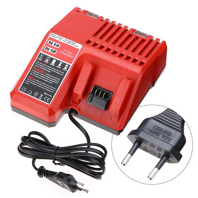 M18 Lithium Li-ion Battery Charger Replacement For Milwaukee Power EU Plug 18V