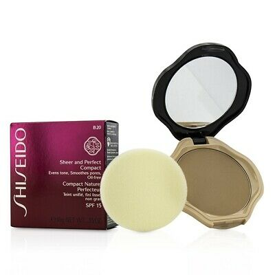 Shiseido Sheer & Perfect Compact Foundation SPF15 - #B20 Natural Light Beige 10g