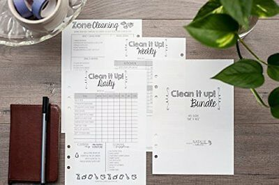 A5 Cleaning Schedule Kit for Filofax Planners Carpe Diem Daily and Weekly Lists