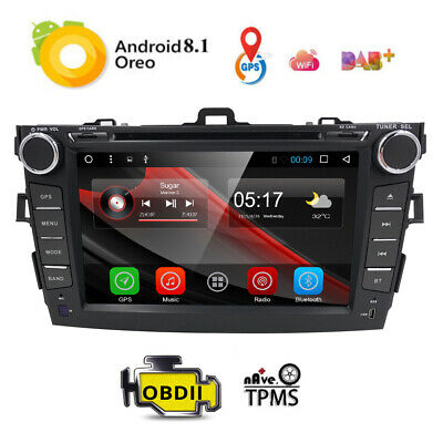 """8""""Android 6 GPS Car Radio DVD Player For Toyota Corolla 2007 2008 2009 2010 2011"""