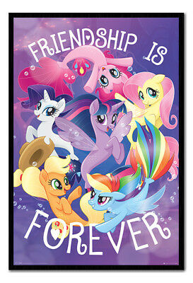 Framed My Little Pony Movie Friendship Is Forever Poster New