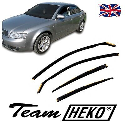 AUDI A4 B6 B7 SALOON  2001-2008 WIND DEFLECTORS 4pc HEKO TINTED