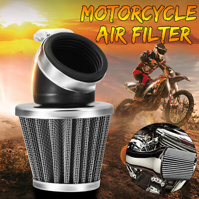 38/42mm Air Filter Pod 45 Degree Bend Cone Universal For Motorcycle Scooter ATV