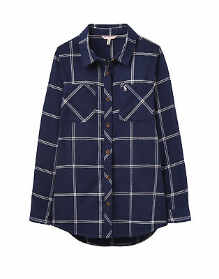 Joules Dixie Checked Shirt - French Navy Check
