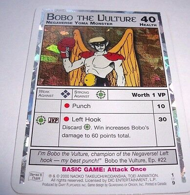 Sailor Moon Series 3 Dart Trading Card Bobo The Vulture 1/9 Foil Chase Card