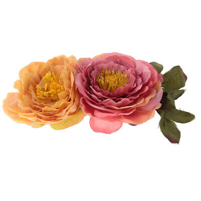 Artificial Fabric Rose Sunflower Flower Floral DIY Wedding Hat Applique Crafts