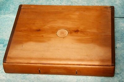 Antique Victorian Pine Writing Slope Leather Fitted Interior by JJ MECHI LONDON