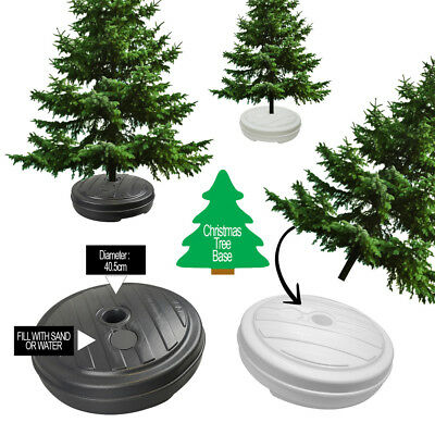 Christmas Tree Stand Base Decorations Indoor Outdoor Umbrella Sand Water Plastic
