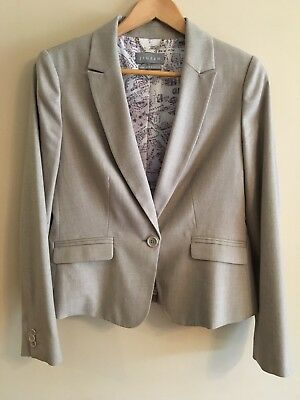 Stunning Classic Beige Jigsaw Suit Skirt + Jacket Size 12 As New RRP $500 +
