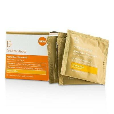 Alpha Beta Glow Pad For Face - Gradual Glow 20 Towelettes by Dr Dennis Gross