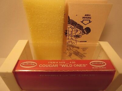 1419 Cougar Wild Ones Slot Car Label Aurora T-Jet For White End Cap